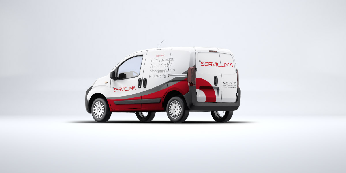 Diseño vehículo empresa climatización