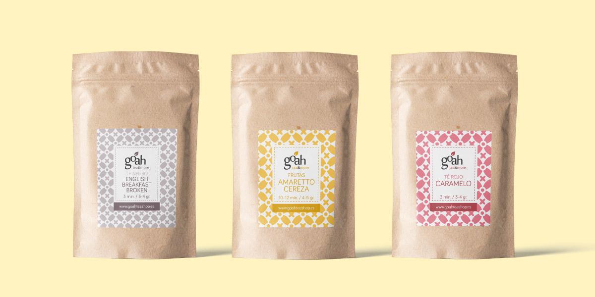 Diseño packaging tienda de té