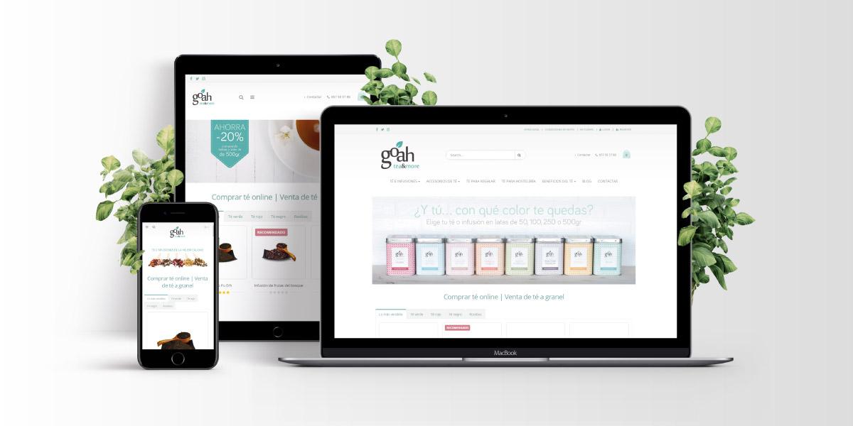 Diseño web tienda de té