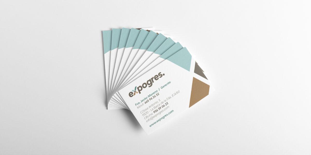 Diseño tarjetas visita empresa construcción